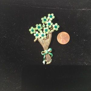 Green Bouquet Brooch